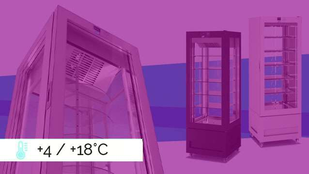 VITRA Refrigerated Display Cabinets  +4 / +18°C