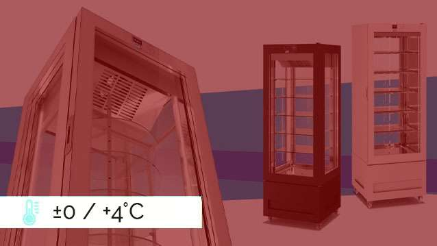 VITRA Refrigerated Display Cabinets  ±0 / +4°C